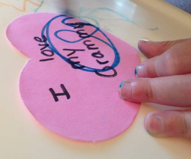 heart decorated by grandchild
