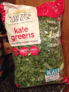 Kale is affordable! This one pound bag of kale was under $4.
