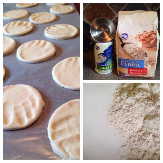 snow day salt dough